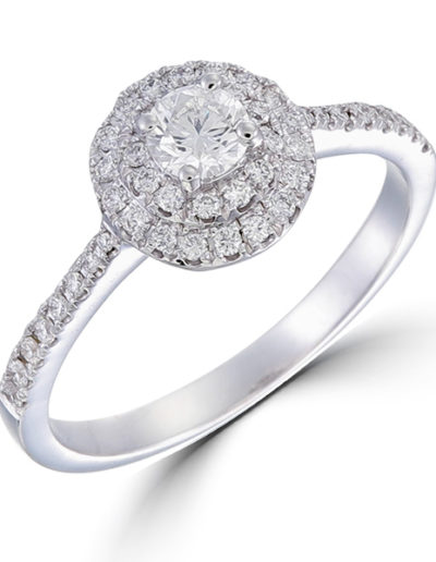 Noémie Ring central diamond 0.30ct, surrounding Diamonds 0.32 ct