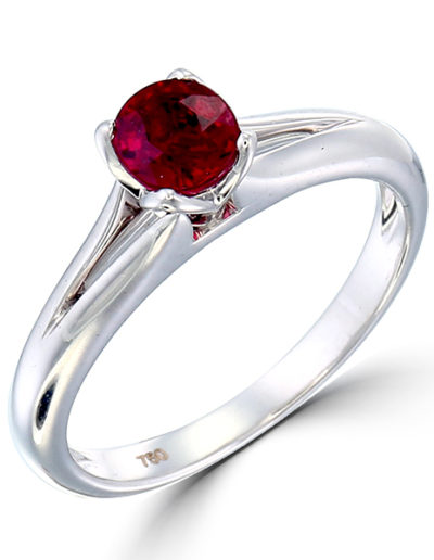 Ruby Tulip ring 0.78 ct