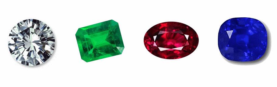 diamant émeraude rubis saphire